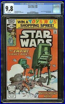 STAR WARS #40 (1980) CGC 9.8 1st APPEARANCE of ROGUE SQUADRON WHITE PAGES