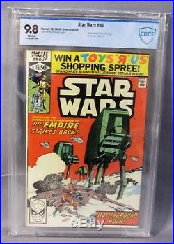 STAR WARS #40 (ESB Adaptation) White pgs CBCS 9.8 NM/MT Marvel Comics 1980 cgc