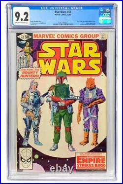 STAR WARS #42 (1980) CGC 9.2 NM 1st BOBA FETT 1st YODA Mandalorian Disney+