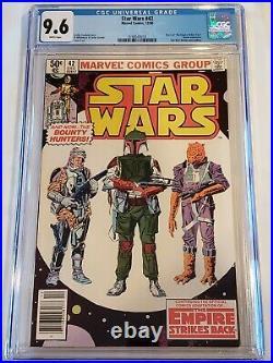 STAR WARS #42 (1980) CGC 9.6 WHITE RARE NEWSSTAND 1st BOBA FETT MARVEL Comics