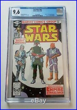 STAR WARS #42 (Marvel, 1980) 1st Boba Fett, CGC 9.6, NM+ White Pages Mandalorian