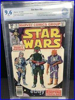 STAR WARS #42 Rare NEWSSTAND (1980) CBCS 9.6 NM/NM+ 1st BOBA FETT & YODA CGC