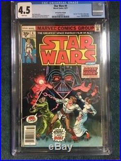 STAR WARS #4 35 cent price variant 35c CGC 4.5 VG+ Very Good Marvel 1977 WHITE