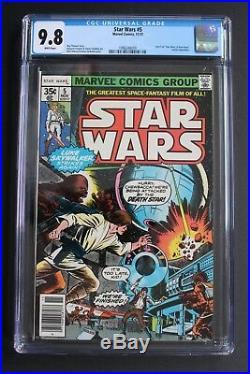 STAR WARS #5 Luke Skywalker Chewbacca Han Solo 1977 Marvel 1st Print CGC 9.8
