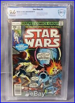 STAR WARS #5 (White Pages) CBCS 9.6 NM+ shape Marvel Comics 1977 cgc