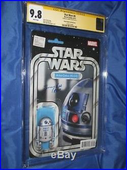 STAR WARS #6 CGC 9.8 SS Signed Jimmy Vee (R2-D2) Marvel Action Figure VARIANT