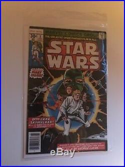 STAR WARS 9.6 number 1 COMIC BOOK 1977 WHITE PAGES CGC PLUS BONUS UNGRADED COPY