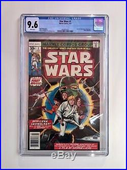 STAR WARS 9.6 number 1 COMIC BOOK 1977 WHITE PAGES Just Arrived From The CGC
