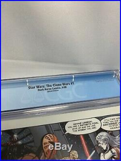 STAR WARS CLONE WARS #1 DH100 Variant CGC White Pages 9.6 Filoni Cover Dark