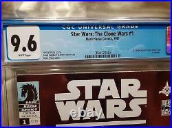 STAR WARS CLONE WARS #1 Dark Horse First Ahsoka Tano CGC 9.6 NM+