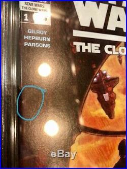 STAR WARS Clone Wars #1 CGC 9.6 NM+ 1st Appearance Ashoka Tano Dark Horse Comics