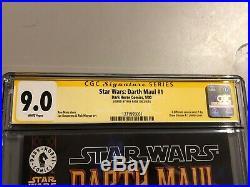STAR WARS DARTH MAUL #1 CGC SS 9.0 SIGNED BY RAY PARK (dark horse comics)