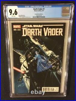 STAR WARS DARTH VADER #1 Comic Book CGC 9.6 J SCOTT CAMPBELL Variant Marvel 2015
