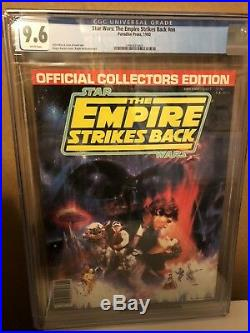 STAR WARS Empire Strikes Back Collectors Edition CGC 1980 9.6 WHITE Pages RARE
