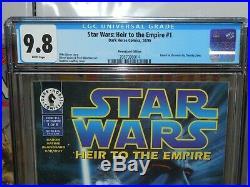 STAR WARS HEIR TO THE EMPIRE #1 CGC 9.8 NEWSSTAND 1995 T. Zahn Dark Horse Comics