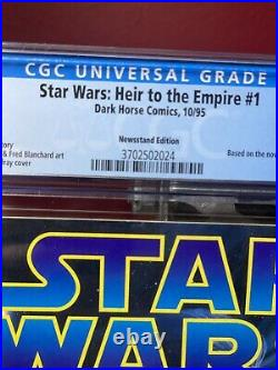 STAR WARS HEIR TO THE EMPIRE #1 NEWSSTAND CGC 9.6 THRAWN- Ultra Rare High Grade
