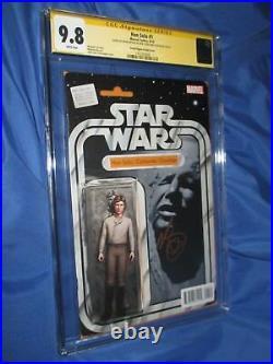 STAR WARS Han Solo #1 CGC 9.8 SS Signed Mark Brooks & JTCACTION FIGURE VARIANT