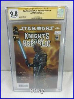 STAR WARS KNIGHTS OF THE OLD REPUBLIC #9 CGC 9.8 SIGNED Full Revan
