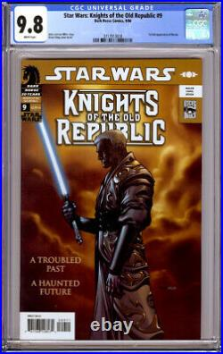 STAR WARS KNIGHTS OF THE OLD REPUBLIC #9 CGC 9.8 WHITE PAGES 1st FULL REVAN 2006