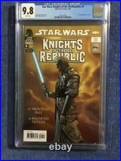 STAR WARS Knights of the Old Republic #9 CGC 9.8 NM/MT 1st Full Appearance REVAN