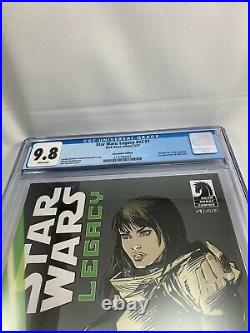 STAR WARS LEGACY #v2 #1 CGC 9.8 2013 Anaheim Wondercon Variant Ania Solo