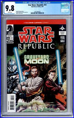 STAR WARS REPUBLIC #51 CGC 9.8 WHITE PAGES 1st DURGE BOUNTY HUNTER 2003