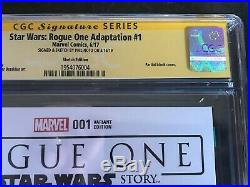 STAR WARS ROGUE ONE #1 CGC 9.6 PHIL NOTO Darth Vader Sketch Blank Variant Cover