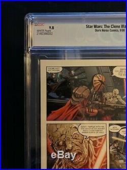 STAR WARS THE CLONE WARS #1 CGC 9.8 1st APPEARANCE OF AHOSKA TANO MANDALORIAN