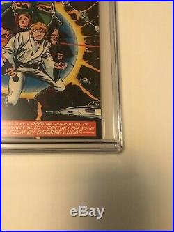 STAR WARS number 1 COMIC BOOK 1977 First Print WHITE PAGES CGC 9.4. Just Came