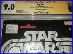 Signed Star Wars Lando #1 CGC SS 9.0 Billy Dee Williams Action Figure Variant