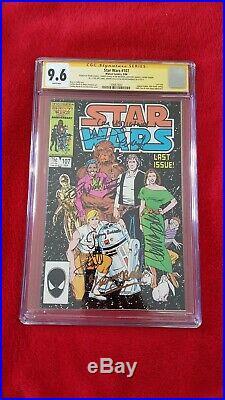 Star Wars 107 CGC 9.6 SS Hamill Fisher Mayhew Daniels Baker Williams Bulloch Ian