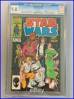 Star Wars 107 CGC 9.8 Last Issue Low Print