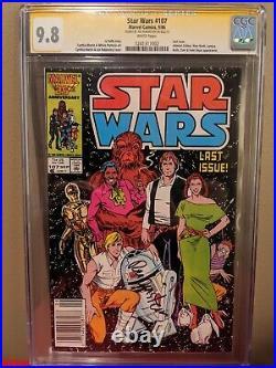Star Wars #107 Newsstand Cgc 9.8 Wp Ss Investment Grade Vhtf Pop 13