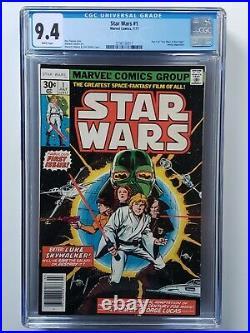 Star Wars #1-107+108 (1977-1986) All Newsstand Comics (#1,42,68,81) + #1 Cgc 9.4
