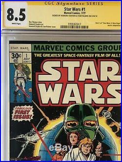 Star Wars #1 1977 CGC 8.5 SS Signed 2x By Tom Palmer, Howard Chaykin