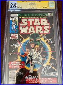 Star Wars #1 1977 CGC 9.8 SS Roy Thomas Part 1 Of Star Wars A New Hope Adapta