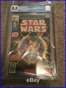 Star Wars 1! 1977 Marvel Comic Key Comic CGC 8.5 Blue Label