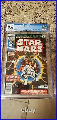 Star Wars 1 1977 NEWSSTAND Variant CGC 9.6 1st Print Marvel Luke Leia Vader