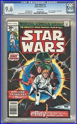 Star Wars 1 1977 NEWSSTAND Variant CGC 9.6 WP 1st Print Marvel Luke Leia Vader