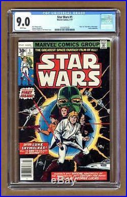 Star Wars #1 1st Printing CGC 9.0 1977 1252925020
