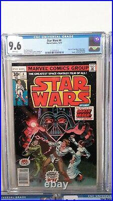 Star Wars #1 2 3 4 5 Cgc 9.6 Setmarvel1st Printswhite Pagesnew Cases