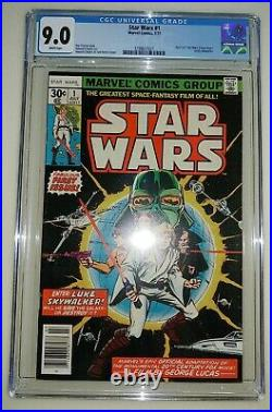 Star Wars #1 & #2 CGC 9.0 / 9.2 White Pages 1st Print 1977
