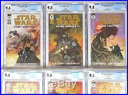 Star Wars 1 6 Dark Empire Vol. II, CGC 9.6 and 9.8 WP 1994 Gold Foil Edition
