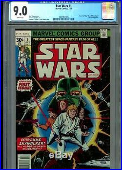 Star Wars #1 9.0 CGC White pgs 7/77 KEY FIRST ISSUE