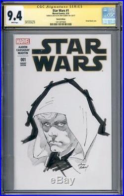 Star Wars #1 Blank CGC SS 9.4 Andy Kubert Sketch Cover Luke Skywalker