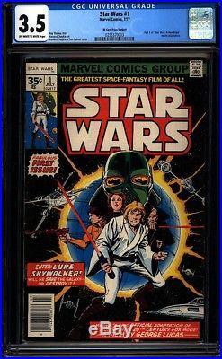 Star Wars 1 CGC 3.5 OWithW Price Variant Bronze Age Key Marvel Comic IGKC L@@K