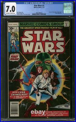 Star Wars #1 CGC 7.0 (OW-W) Part 1 of Star Wars A New Hope