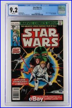 Star Wars #1 -CGC 9.2 NM- Marvel 1977- Comic Adaptation of A New Hope