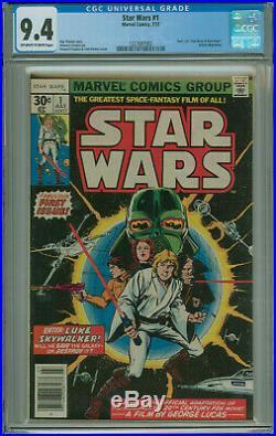 Star Wars #1 CGC 9.4 1st Print Part 1 Marvel 1977 Free Shipping