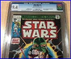 Star Wars #1 CGC 9.4! Near Mint! A New Hope! Roy Thomas/Howard Chaykin! 1977